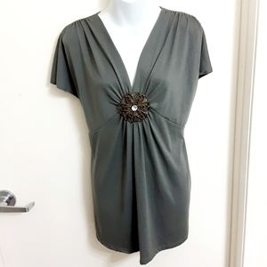 Maternity Green Olive  Top Size Plus 2 X. NWOT.